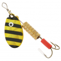 Kilwell Blade Spinner Lure Treble Hook Zebra Qty 1