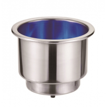 Stainless Steel Can Holder with Blue LEDs