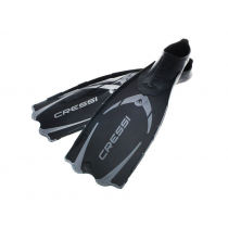 Cressi Pluma Full Foot Dive Fins Black/Silver