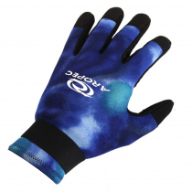Aropec Blue Camo Spearfishing Dive Gloves 2mm S