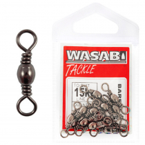 Wasabi Tackle Black Barrel Swivel Small Packs