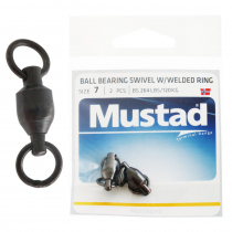 Mustad Ball Bearing Swivel with Welding Ring 264lb Size 7 Qty 2