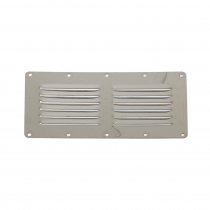 Stainless Steel Louvre Vent - 2x6 Louvres