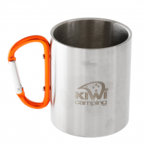 Kiwi Camping Stainless Steel Mug with Carabiner Handle