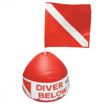 Diver Below Float and Flag