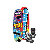 Airhead Shred Time Wakeboard with US4-8 Venom Boots 124cm