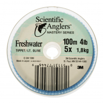 Scientific Anglers Mastery Freshwater Tippet Olive 5x 4lb 100m