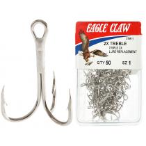 Eagle Claw 375F Treble Hooks No.1 Qty 50