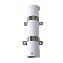 PVC Rod Holder with Stainless Steel Bracket