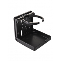 Adjustable Folding Drink Holder Black