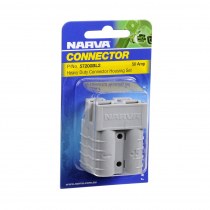 NARVA Heavy Duty 50A Connector Housing with Copper Terminals Twin Pack