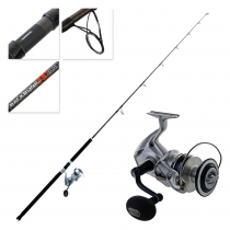 Shimano Saragosa 10000 SW and Backbone Elite Topwater Spinning Boat Combo 8ft 2in 50-80lb 2pc