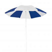 Summer Beach Umbrella Blue and White 180cm