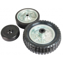 AL-KO Replacement W350P Wheel Rubber Tyre With Steel Rim 250mm x 80mm