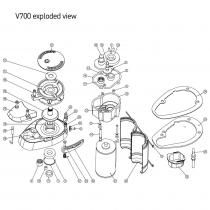 Lewmar Replacement Windlass Motor Kit 12v V700/Sprint 600 Models