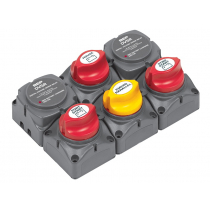 BEP Battery Distribution Cluster For Twin Outboard Engine with Three Battery Banks