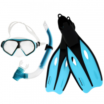Mirage Challenge Adult Snorkeling Set Large Blue
