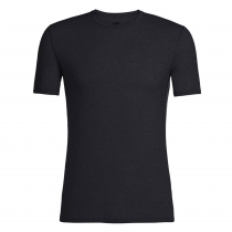 Icebreaker Merino Mens Anatomica Short Sleeve Crewe Shirt Black/Monsoon