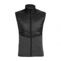 Icebreaker Mens MerinoLOFT Ellipse Vest Monsoon/Black 2XL