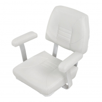 V-Quipment Skipper Classic Helm Seat with Arm Rests White