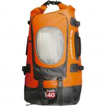 Aropec Adjustable Waterproof Backpack 40L Orange/Black