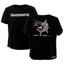 Shimano Lure'd In Swordfish T-Shirt Black