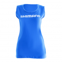 Shimano Womens Sports Neck T-Shirt Blue