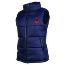 Womens Puffer Vest with NZ Badge Navy