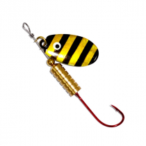 Kilwell Blade Spinner Lure Single Hook Zebra Qty 1