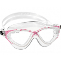 Cressi Saturn Crystal Swimming Goggles Clear/White/Pink
