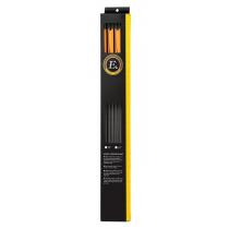 Ek Archery Black Carbon Arrows 30in 6 Pack