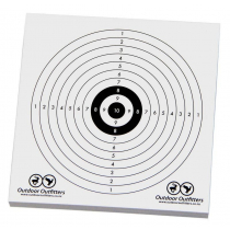 Outdoor Outfitters Cardboard Targets Small 140mmx140mm 50X Pack
