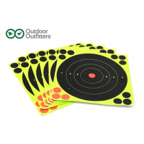 Outdoor Outfitters 200mm Outdoor Outfitters High Viz Targets 6 Pack Self Sticking