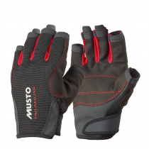 Musto Essential Sailing Short Finger Gloves Red Black Size XL