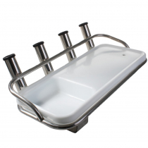 Deluxe Bait Board with Stainless Steel Fittings and 4 Rod Holders