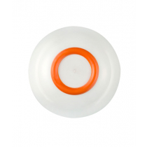Palm Sorona Unbreakable White Bowl with Orange Non-Slip Ring
