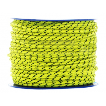Donaghys Superspeed Cruising Braid Rope 5mm x 1m Fluoro Yellow/Black Fleck 8-Plait