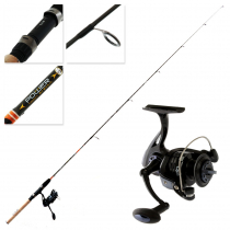DAM Fighter Pro 320 FD PTS Ultralight Spinning Freshwater Combo 6ft 2-8g 2pc