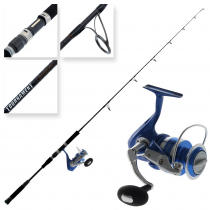 Okuma Azores Blue 4000 and Tournament Concept Saltwater Spin Combo 6ft 6in PE1.5-4 1pc
