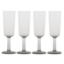 Marc Newson White Unbreakable Flute Glass Set of 4