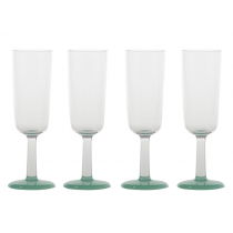 Marc Newson Unbreakable Glow in the Dark Flute Glass Set of 4