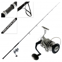 Shimano Saragosa 18000SW AHG Grappler Type C S82H Topwater Spin Combo 8ft 2in PE8 2pc