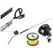 Shimano Dendou-Maru Forcemaster 9000 and Status Electric Combo with Line 5ft 6in PE5-8 2pc