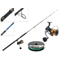 Shimano Socorro 10000 SW and Vortex Jigging Combo with Line 5ft 5in 15-24kg 1pc