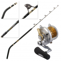 Shimano Talica 50 and Tiagra Ultra Nano Alps Roller 2-Speed Game Combo 5'4'' 50lb 2pc