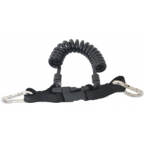 Quick Release Spiral Lanyard with Stainless Clips