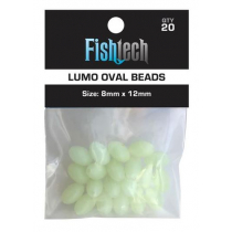 Fishtech Lumo Oval Fishing Beads 8x12mm Qty 20