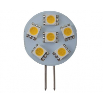 6 LED G4 Bulb with Back Pin Warm White