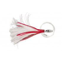 Williamson Flash Feather Tuna Lure Red White 4''