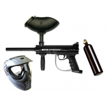 BT-4 Combat Paintball Gun Package - Mask with Bottle and Hopper